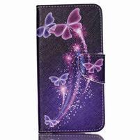 Peněženkové pouzdro na mobil Acer Liquid Z630 - kouzelní motýlci