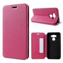 Magnetic PU kožené pouzdro na Asus Zenfone 3 Max ZC553KL - rose