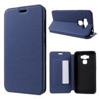 Magnetic PU kožené pouzdro na Asus Zenfone 3 Max ZC553KL - modré