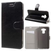 Horse PU kožené pouzdro na Asus Zenfone 3 Max ZC553KL - černé