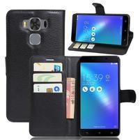 Corss PU kožené pouzdro na Asus Zenfone 3 Max ZC553KL - černé