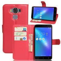 Corss PU kožené pouzdro na Asus Zenfone 3 Max ZC553KL - červené