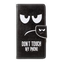 Emotive peněženkové pouzdro na Asus Zenfone 3 Max ZC553KL - nedotýkat se