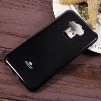 Jelly gelový obal s třpytivým efektem na Asus Zenfone 3 Max ZC553KL - černý