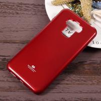 Jelly gelový obal s třpytivým efektem na Asus Zenfone 3 Max ZC553KL - vínový