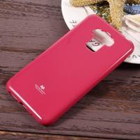 Jelly gelový obal s třpytivým efektem na Asus Zenfone 3 Max ZC553KL - rose