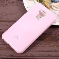 Jelly gelový obal s třpytivým efektem na Asus Zenfone 3 Max ZC553KL - růžový
