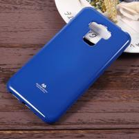 Jelly gelový obal s třpytivým efektem na Asus Zenfone 3 Max ZC553KL - modrý