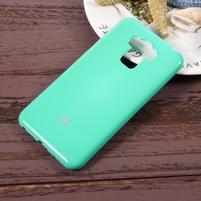 Jelly gelový obal s třpytivým efektem na Asus Zenfone 3 Max ZC553KL - azurový