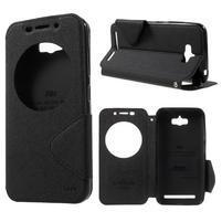Diary peněženkové pouzdro s okýnkem na Asus Zenfone Max - černé