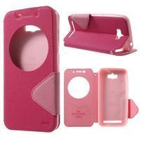 Diary peněženkové pouzdro s okýnkem na Asus Zenfone Max - rose