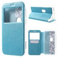 Peněženkové pouzdro s okýnkem na Asus Zenfone Zoom - modré