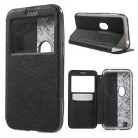 Peněženkové pouzdro s okýnkem na Asus Zenfone Zoom - černé