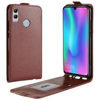 Crazy PU kožené flipové pouzdro na mobil Honor 10 Lite a Huawei P Smart (2019) - hnědé