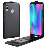 Crazy PU kožené flipové pouzdro na mobil Honor 10 Lite a Huawei P Smart (2019) - černé