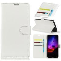 Skin PU kožené pouzdro pro Honor 10 Lite a Huawei P Smart (2019) - bílé