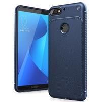 IVS gelový obal s texturou na Huawei Y7 Prime (2018) a Honor 7C - tmavěmodrý