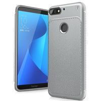 LEN gelový obal s texturou na Huawei Y7 Prime (2018) a Honor 7C - šedý