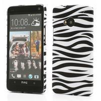 Plastový kryt na HTC One M7 - zebra