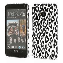Plastový kryt na HTC One M7 - leopard