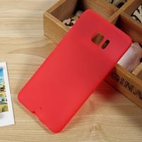 Matný gelový obal na HTC U Ultra - červený
