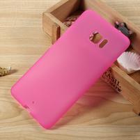 Matný gelový obal na HTC U Ultra - rose
