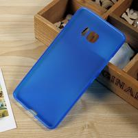 Matný gelový obal na HTC U Ultra - modrý