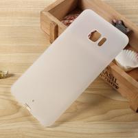Matný gelový obal na HTC U Ultra - bílý