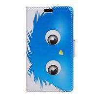 Emotive PU kožené pouzdro na Huawei Nova - modrý strašák