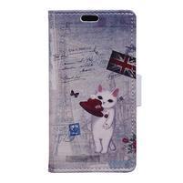Emotive PU kožené pouzdro na Huawei Nova - GB kočička