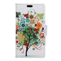 Emotive PU kožené pouzdro na Huawei Nova - ovocný strom