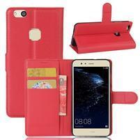 Leathy PU kožené pouzdro na mobil Huawei P10 Lite - červené