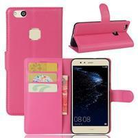 Leathy PU kožené pouzdro na mobil Huawei P10 Lite - rose