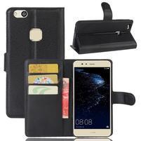 Leathy PU kožené pouzdro na mobil Huawei P10 Lite - černé