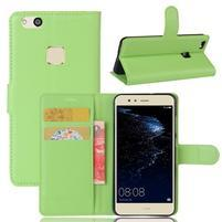 Leathy PU kožené pouzdro na mobil Huawei P10 Lite - zelené