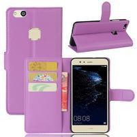 Leathy PU kožené pouzdro na mobil Huawei P10 Lite - fialové