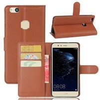Leathy PU kožené pouzdro na mobil Huawei P10 Lite - hnědé