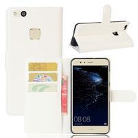 Leathy PU kožené pouzdro na mobil Huawei P10 Lite - bílé