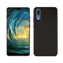 Fiber gelový obal s texturou na Huawei P20 - černý