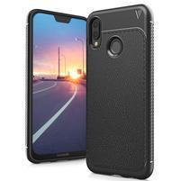 IVS texturovaný gelový obal na Huawei P20 Lite - černý