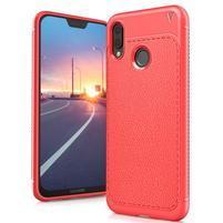 IVS texturovaný gelový obal na Huawei P20 Lite - oranžovočervený