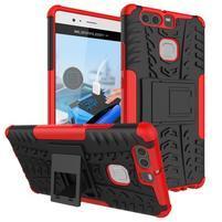 Outdoor ochranný kryt na mobil Huawei P9 - červený