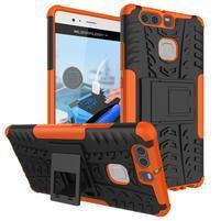 Outdoor ochranný kryt na mobil Huawei P9 - oranžové