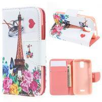 Peněženkové pouzdro na mobil Huawei Y3 a Y360 - Eiffelova věž