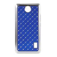 Drahokamový plastový kryt na Huawei Y635 - modrý
