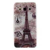 Gelový obal na Samsung Galaxy A3 - Eiffelova věž