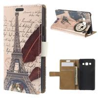 Peněženkové pouzdro na Samsung Galaxy A3 - Eiffelova věž