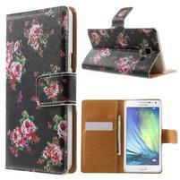 Peněženkové zapínací pouzdro na Samsung Galaxy A5 - růže