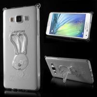 Transparentní gelový obal s nastavitelným stojánkem na Samsung Galaxy A5