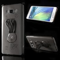 Šedý gelový obal s nastavitelným stojánkem na Samsung Galaxy A5